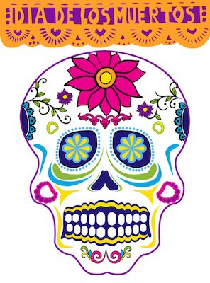 Spanish color-by-number activity for Día de los Muertos. Great to use with kids learning Spanish for Day of the Dead: practice Spanish vocabulary for parts of the face, colors in Spanish and numbers in Spanish. http://spanishplayground.net/spanish-color-by-number-calavera/