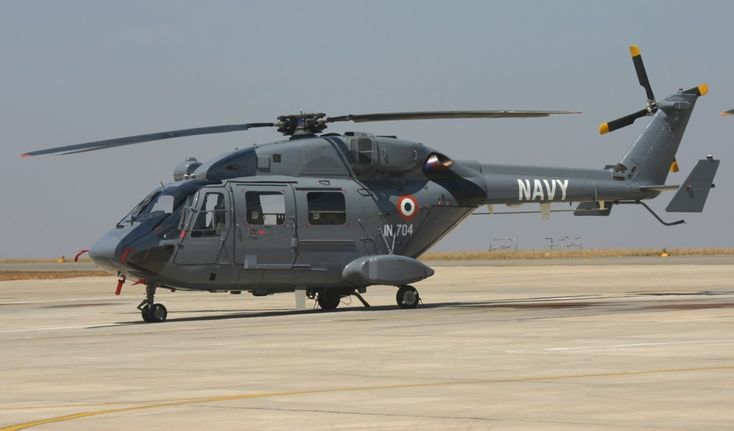 Indian Navy Hindustan Aeronautics Limited-built ALH Dhruv.Dhruv in same size & weight class as AgustaWestland's Lynx,but final result of program likely to fall short of capabilities possessed by AW159 Wildcat,or larger machines like NH90 NFH or MH-60R Seahawk.On one hand,adapting existing HAL platform circumvents India's broken procurement system,creating near-term solution for astonishing weakness in this area.Also creates a platform that can be improved over time.