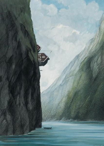 Norwegen: Illustration by Gerhard Glück (10,5 x 14,8 cm Postkarte, €1.00) #illustration #GerhardGlueck