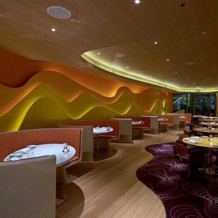 The Silk Road Restaurant Inside Vdara Hotel In Las Vegas Karim Rashid Design