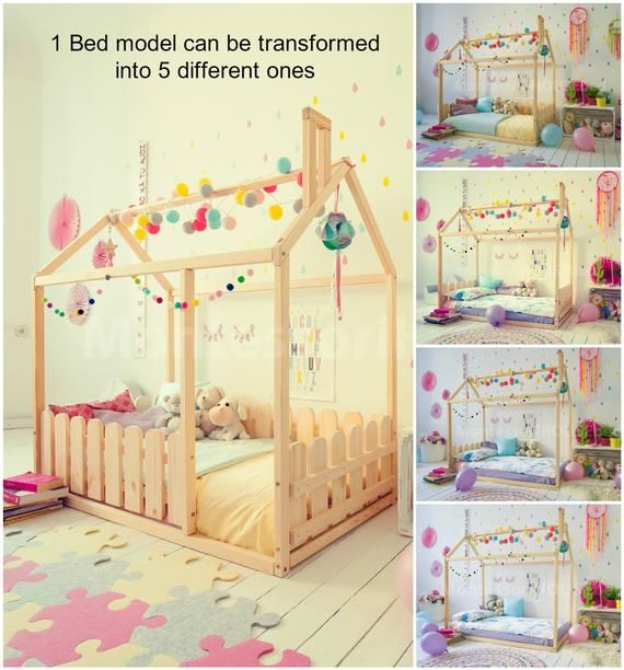 Montessori Bed House Bed Children Bed Toddler Bed Kid Bed