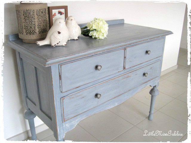 vintage dresser table miss mustard seed milk paint lavender & shutter grey