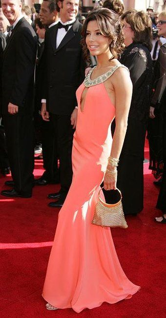 eva longoria at emmy awards in 2005. one of her best red carpet dresses EVER