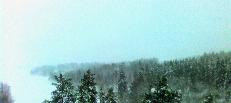 Wintery Snowing View from Siltavahti on Jan 16th 2015