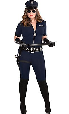 Adult Stop Traffic Sexy Cop Costume Plus Size