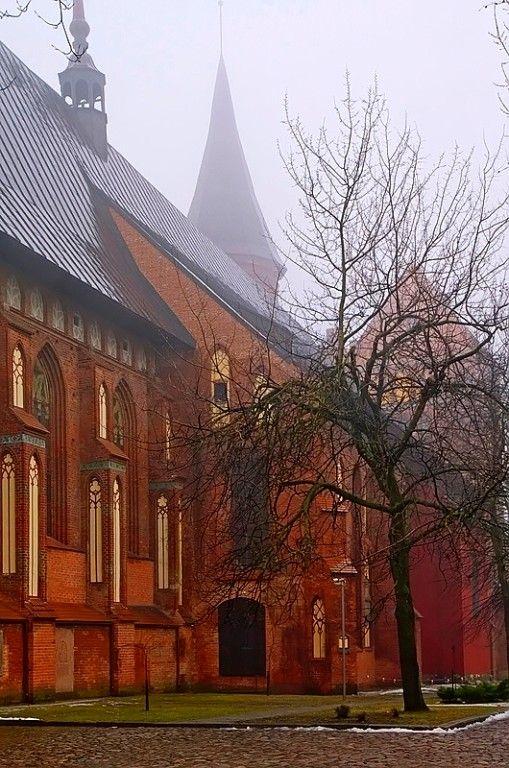 Калининград. Вид на северную сторону Кафедрального собора. Фото 1 марта 2012 года.