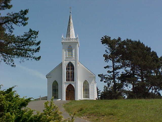 Bodega Bay, CA-- The church from the movie The Birds