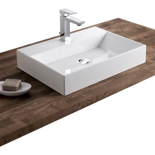 Vasque à poser Solo en résine de synthèse 50 x 36 cm