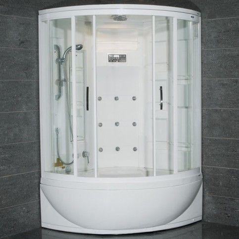 Ariel Zaa212 Steam Shower With Whirlpool Bathtub 47x47x87 With