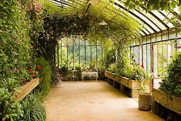 greenhouse/conservatory on back of cottage #conservatorygreenhouse