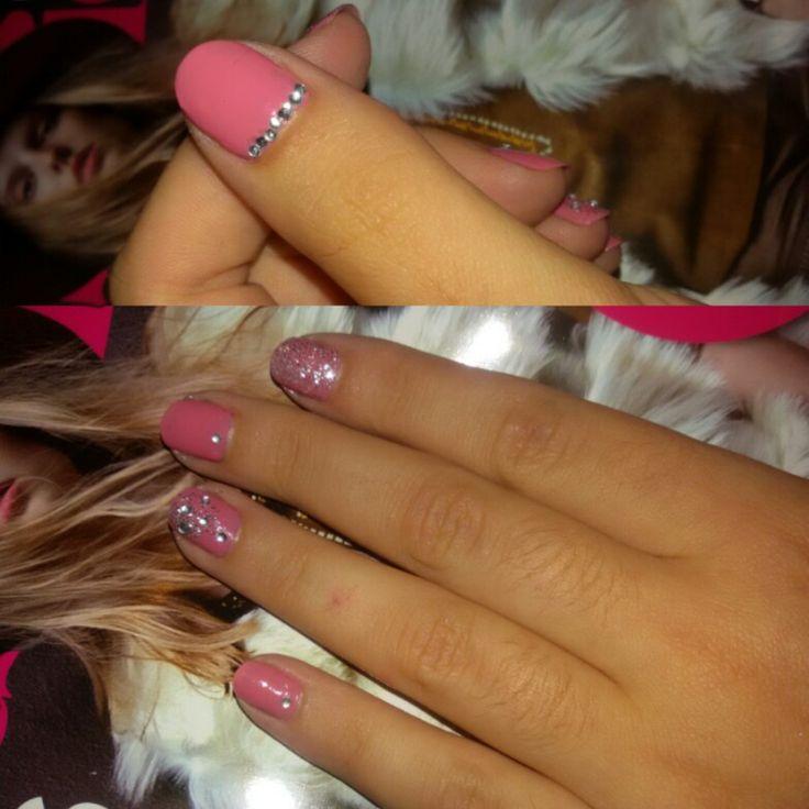 #glitter #pink #rhinestones