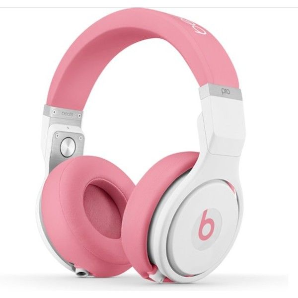 Nicki Minaj Releases Pink Pros Headphones with Beats by Dre ❤ liked on Polyvore featuring accessories, tech accessories and pink headphones