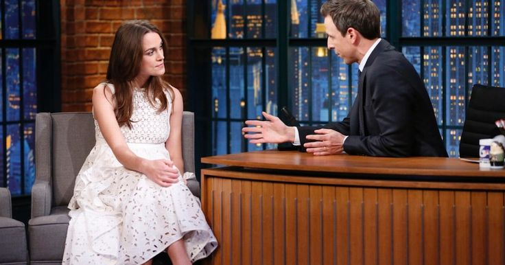 The Pirates of the Caribbean was speaking to chat show host Seth Meyers across the pond about her love of the beautiful game