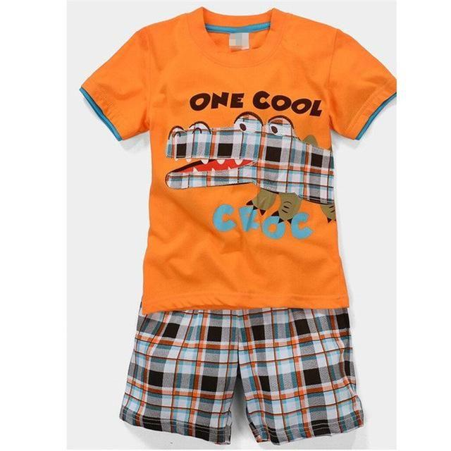 3f6aa6e4b0a7 New Design Summer Kids Baby Sleepwears Suits Boys Pajamas Children ...