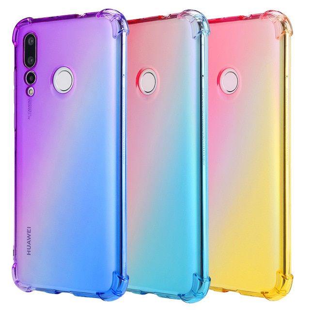 Huawei Nova 4e P30 Lite Color Gradual Change Tpu Soft Phone Cases For Huawei Honor 10 Lite Nova 3 4 5 5i V20 In 2020 Online Phone Cases Dust Plug Huawei