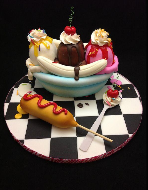 Junk Food Cake - Banana Split Cake