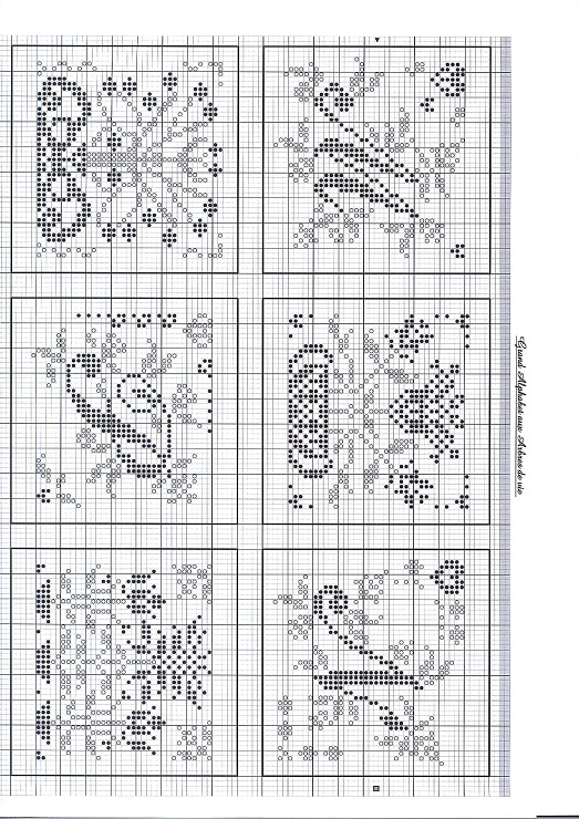 Gallery.ru / Фото #3 - 50531 - stepaniya13 M monogram cross stitch