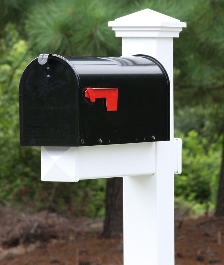 Vinyl Mailbox Posts - Homestead Vinyl Mailbox Post, $127.93 (http://www.thevinylmailboxpost.com/homestead-vinyl-pvc-mailbox-post/)