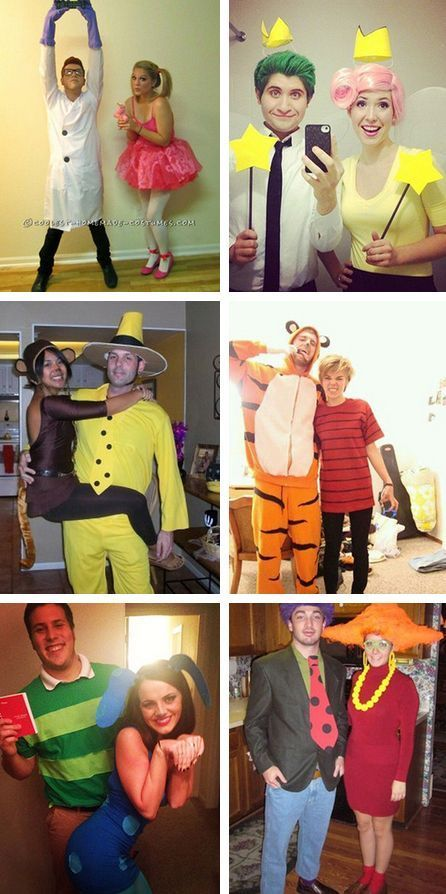 15 Fun and Unique DIY Halloween Couples Costume Inspired By Your Favorite Cartoon Characters
