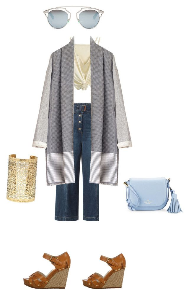 """""""Casual blue"""" by aleksaaryal on Polyvore featuring RED Valentino, Michael Kors, Kate Spade, Christian Dior and Forever 21"""