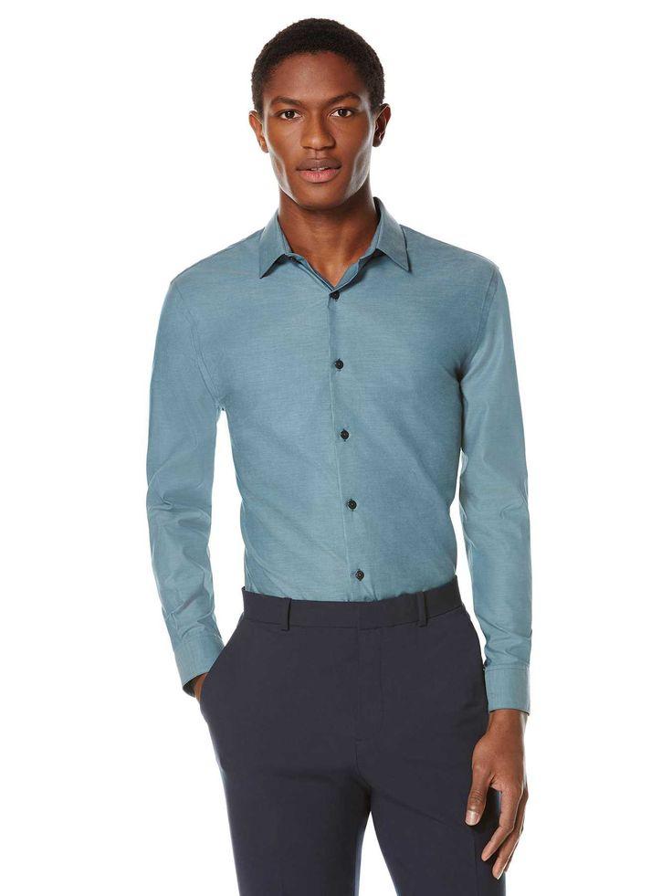 #FashionVault #perry ellis #Men #Tops - Check this : Perry Ellis Non-Iron Luxury Iridescent Shirt for $34.99 USD