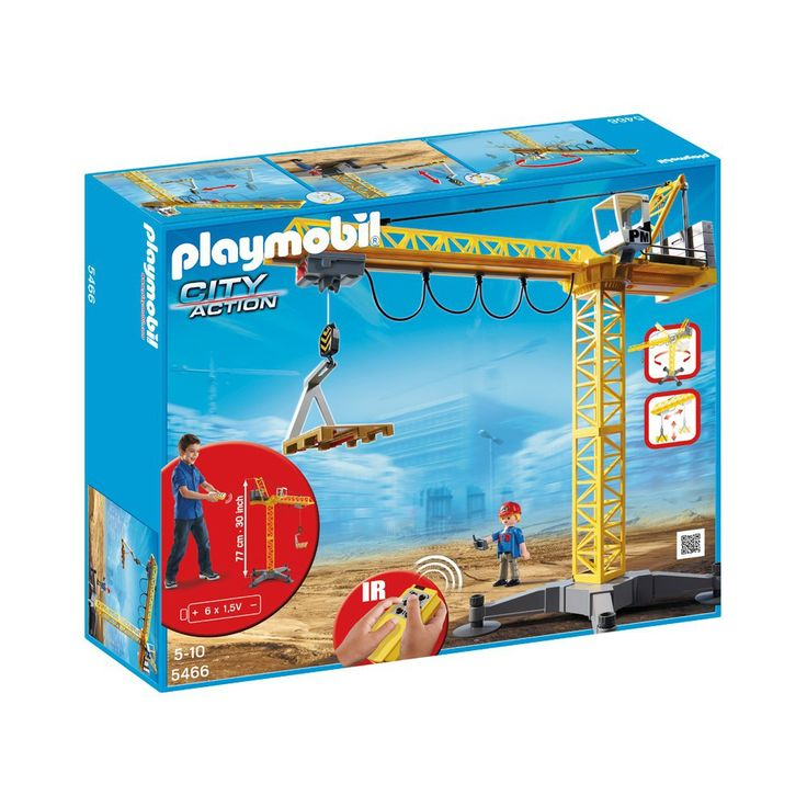 PLAYMOBIL® Grande grue de chantier radio-commandée réf.5466-product
