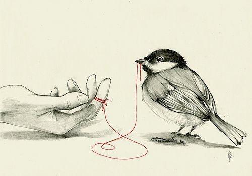 """Un antiguo proverbio chino dice: """"Un hilo rojo invisible conecta a aquellos destinados a encontrarse, a pesar del tiempo, el lugar, y a pesar de las circunstancias. El hilo se puede apretar o enredarse, pero nunca se romperá"""" ℓσνє.ღ"""