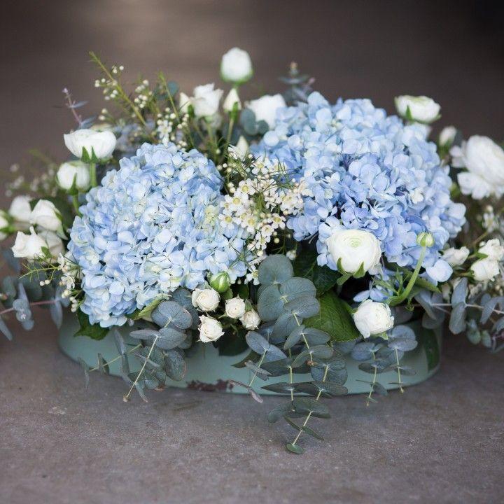 Las 25 mejores ideas sobre centros de mesa de hortensias - Decoracion con hortensias ...