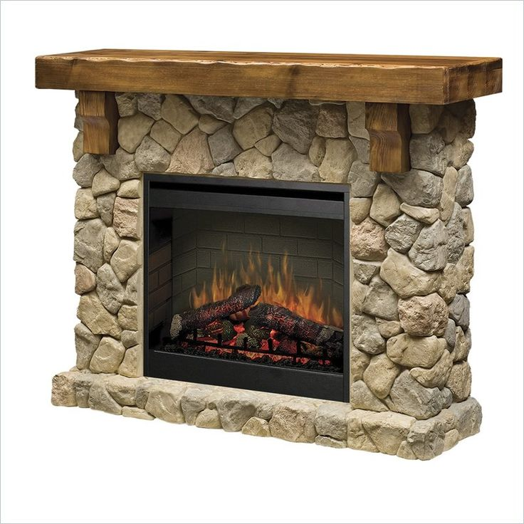 Dimplex Electraflame Fieldstone Natural Stone Free Standing Electric Fireplace - SMP-904-ST