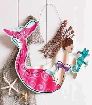 Metal mermaid wall art mermaid home decor pinterest mermaid wall art and mermaid - Little mermaid bathroom ideas ...