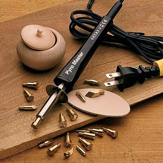 Pyro-Master Burning Tool Kit  For decorating wood & leather surfaces