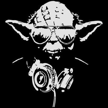 DJ Yoda Wandsticker... den Sound hören du mußt! Street Art Wandtattoo, VinylART und Wall decal