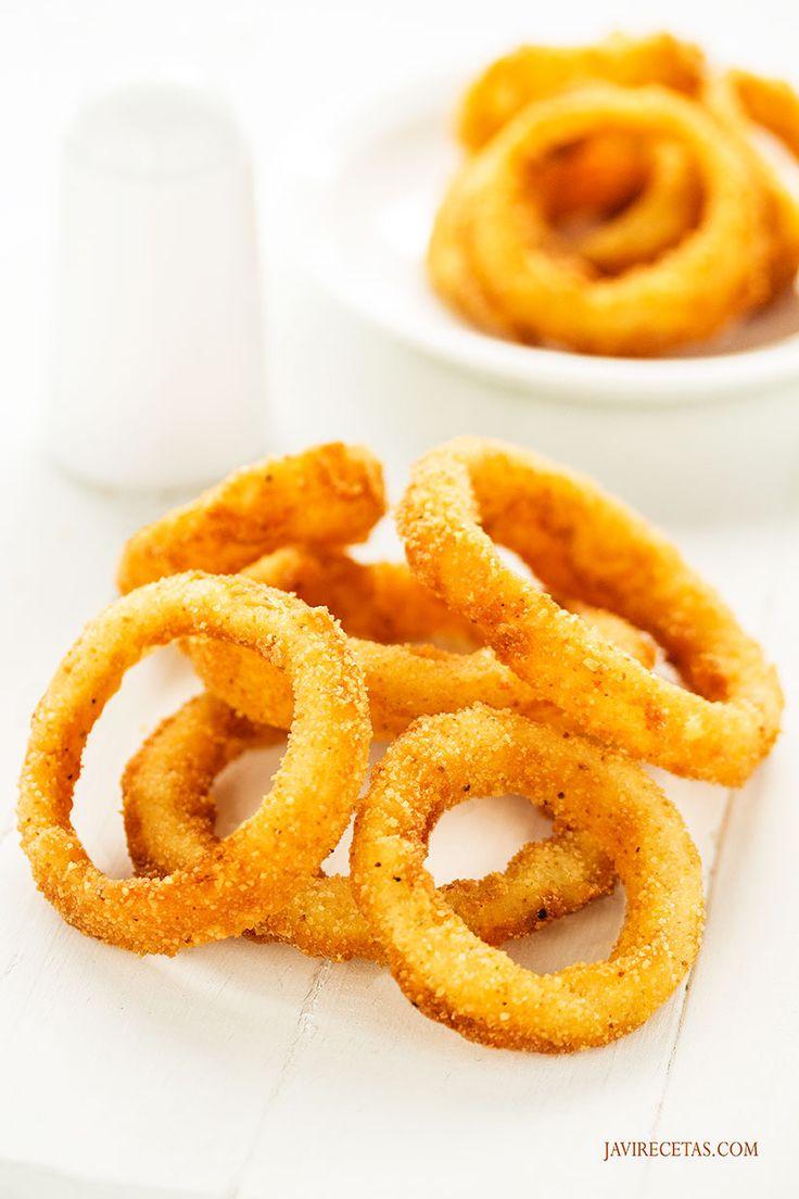 Anímate mañana con esta #receta de Aros de Cebolla super crujientes. Verás que ricos!!