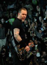 """Metallica singer/guitarist James Hetfield performs during a sold-out concert at the Mandalay Bay Events Center December 5, 2009 in Las Vegas, Nevada. The band is touring in support of the album, """"Death Magnetic."""""""