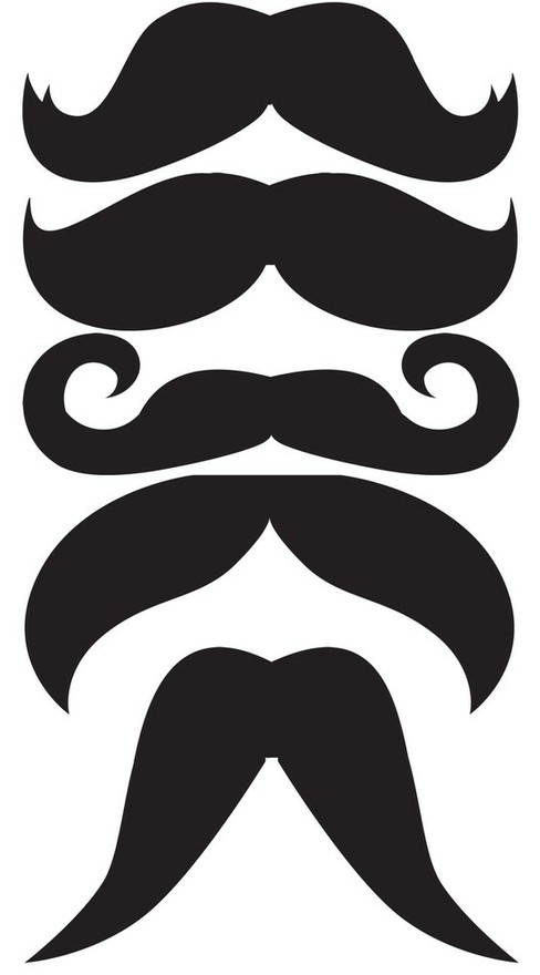Mustache printable for mustache on a stick