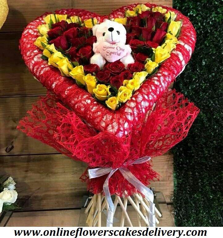 Send Valentine's Day Gifts to India, Online Flower Delivery in India, Valentine's Day Flowers to India, Online Cake Delivery in India, Midnight Gifts India. Same day flowers & cakes delivery in India. #IndiaFlorist #Onlineflorist #Samedayflowersdelivery #Samedaycakesdelivery #Freshroses #Redroses #Yellowroses #Whiteteddy #Heartshapedarrangement URL :- www.onlineflowerscakesdelivery.com