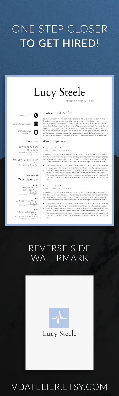 Nurse resume template for modern professionals. Suitable as medical resume for nurses, CNA, EMS or doctors. #resume #resumetemplate #nurse #cna #rnresume #cv #curriculumvitae #ems #rnresume