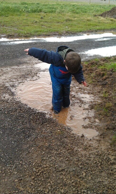 Jumping in Puddles What Fun