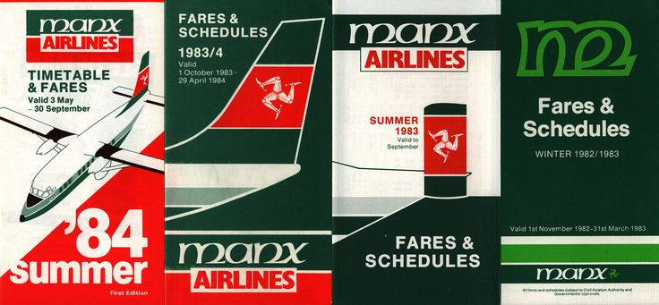 https://flic.kr/p/Pg7bd8 | Manx Airlines Timetables 1982, 1983, 1984