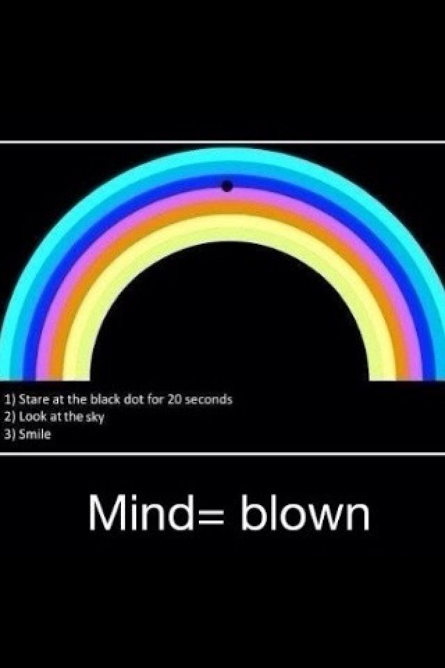 illusions dot stare optical illusion eye mind cool funny rainbow blink stuff tricks super brain then awesome seconds fast scary