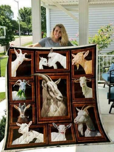 Goat 3D Picture Frames Fleece Blanket 50x60; 60x80 Made In