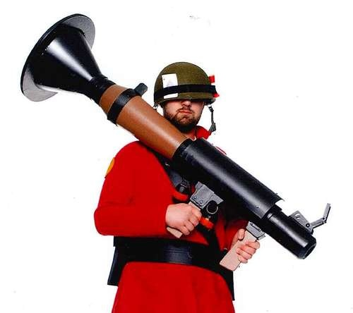 TF2 Rocket Launcher tutorial! I might be planning a femme soldier costume...
