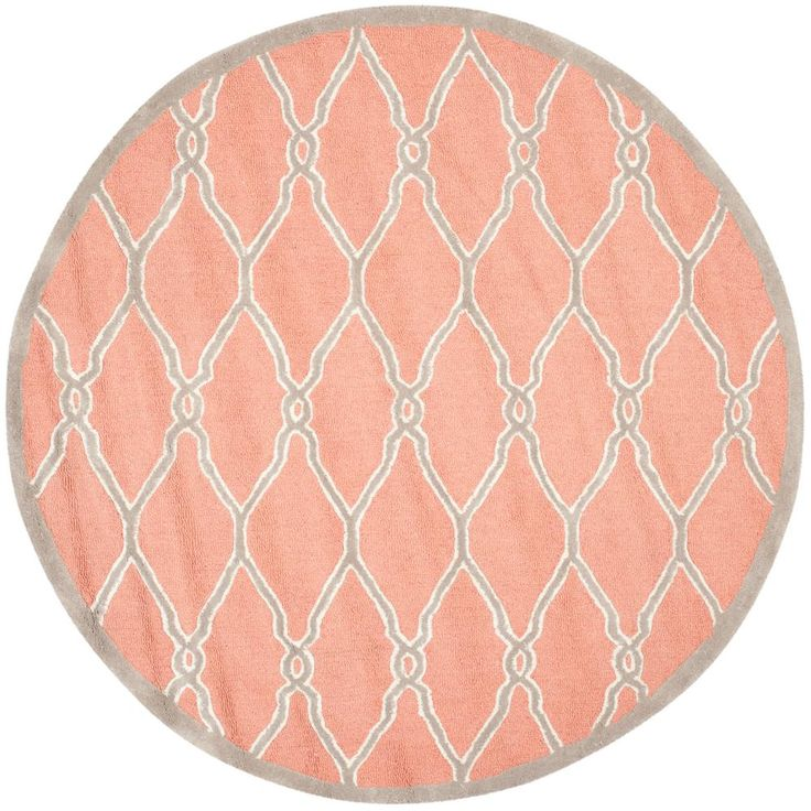 Cambridge Coral/Ivory (Pink/Ivory) 6 ft. x 6 ft. Round Area Rug