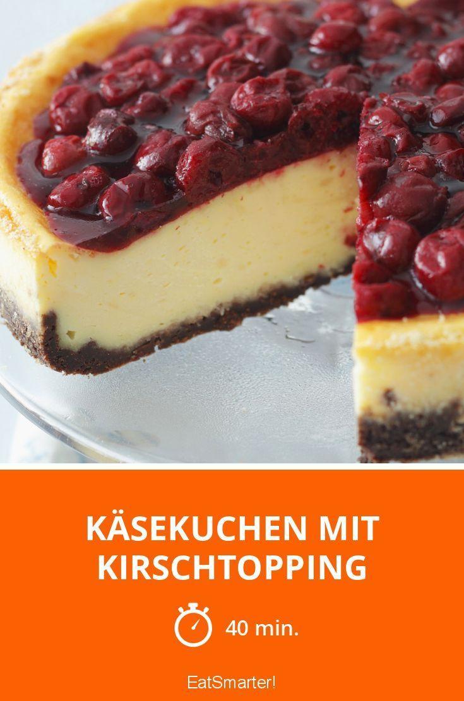 Käsekuchen mit Kirschtopping - smarter - Zeit: 40 Min. | eatsmarter.de