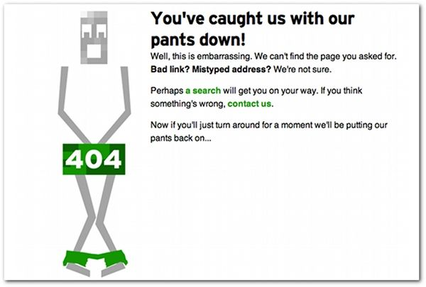 11 creatively branded '404 error' pages - My favourite the TechCrunch page!