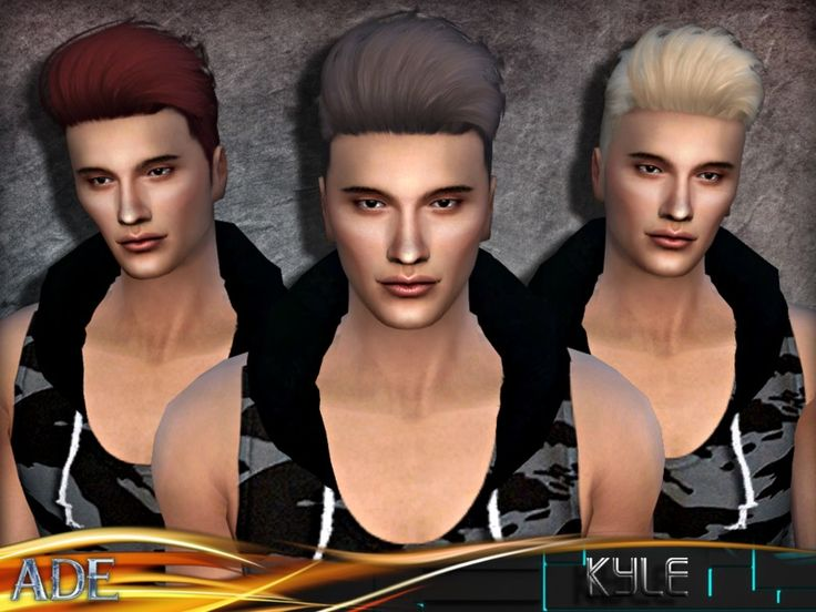New Male Hair mesh ll 27 new colors ll no morph ll head bone assignment ll hat support  Found in TSR Category 'Sims 4 Male Hairstyles'