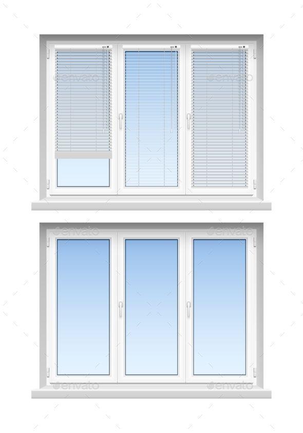 Plastic  Windows Jalousies 2 Realistic Icons
