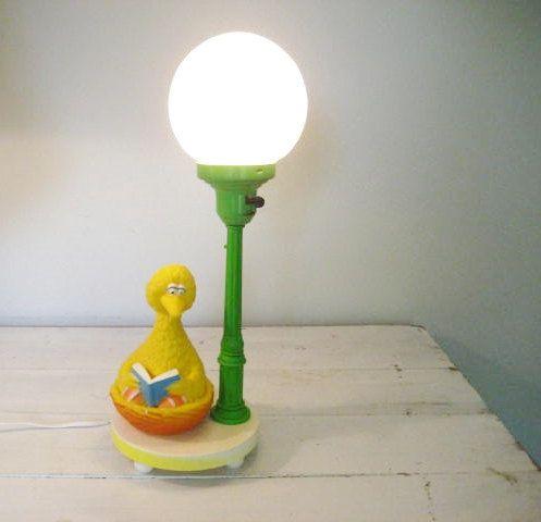 Vintage Sesame Street Big Bird Lamp Works Great by vintagecarliss, $45.00