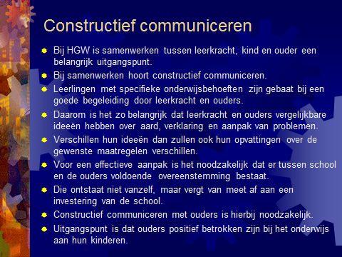 HGW en constructief communiceren