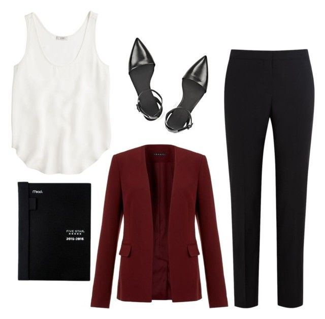 """""""What to Wear: Career Fair"""" by bncollege on Polyvore featuring Paul Smith Black Label, J.Crew, Theory and Alexander Wang"""